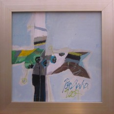 Ciuha Jože, »Modri semafor«, akrilpanel, 2007, 40 x 40 cm, 2.200,00 €-001