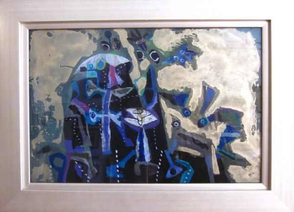 Ciuha Jože, »Nikoli ne bo dojel«, akrilpleksisteklo 2005, 37 x 55 cm