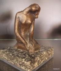 PUTRIH, DEKLICA Z ROŽO, 1938, BRON