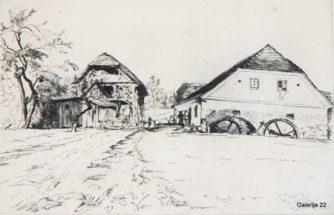 Jakac Božidar Štinetov mlin, 1941, jedkanica