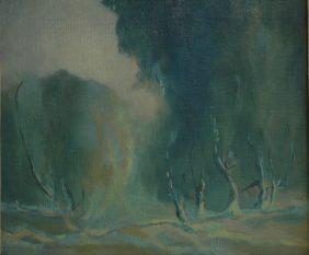 Kogovšek Lojze Krajina, olje, platno, 53 × 63 cm